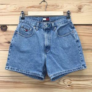 Vtg Tommy Hilfiger Jean Shorts 6 High Waisted Mom